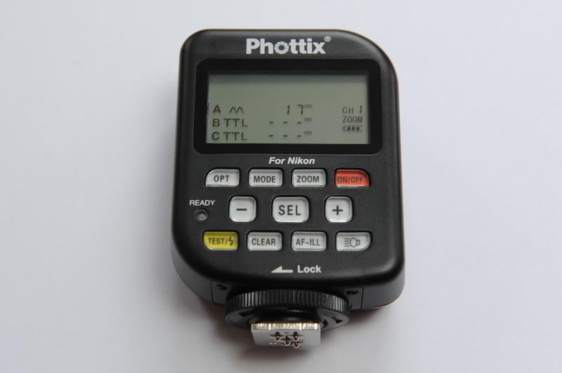 Phottix Odin: Funksender mit Auswahlmenü der Blitz-Zoomeinstellungen