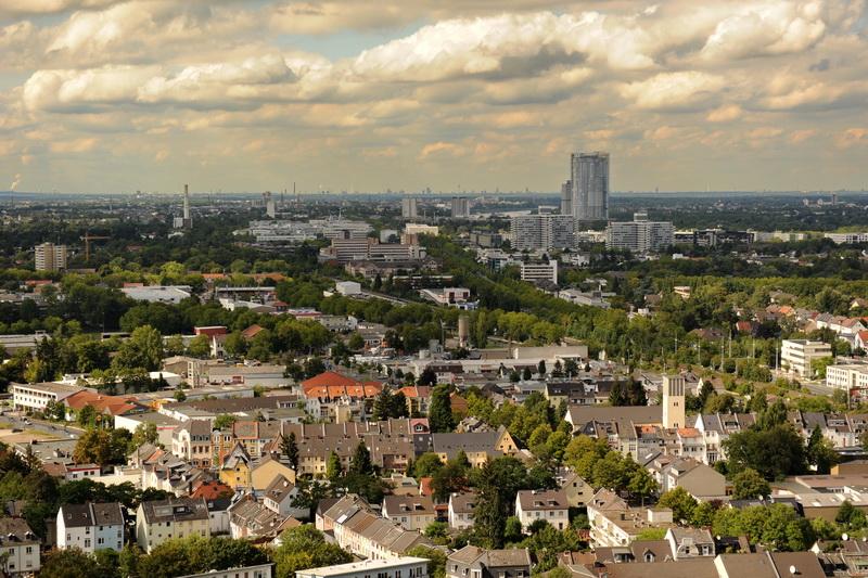 Blick vom Turm der Godesburg über Bonn