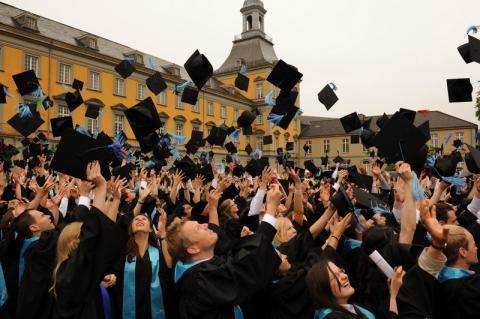 Graduation celebration, Bonn, 2014