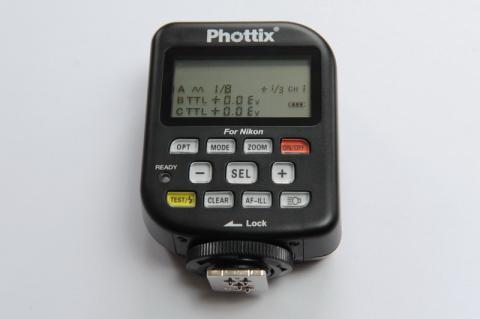 Phottix Odin: Funksender mit Auswahlmenü der Blitzstärke