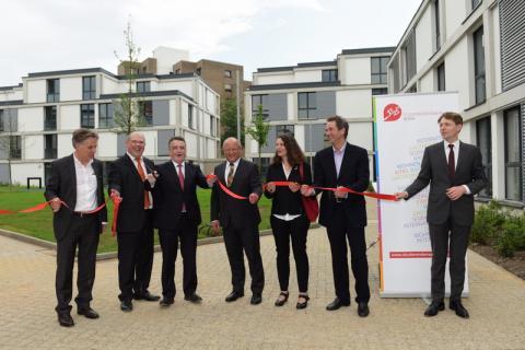 Eröffnung der Studierendenwohnanlage in Neu-Tannenbusch durch NRW-Bauminister Michael Groschek am 6.6.2016